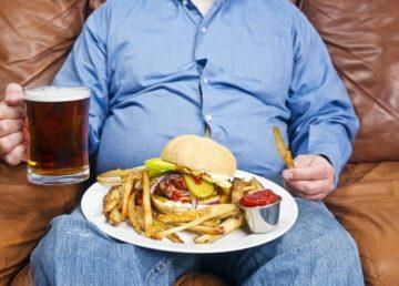 comida basura hamburguesa